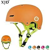 XJD【最新版】 キッズ ヘルメット こども用 ハードシェルタイプ サイズ調整 S/M 高剛性 通気性 軽量 自転車 サイクリング 通学 スキー バイク スケートボード 保護用 スポーツヘルメット