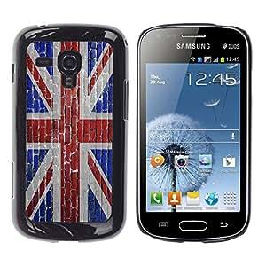 - UK FLAG United Kingdom - - Monedero pared Design Premium cuero del tir¨®n magn¨¦tico delgado del caso de la cubierta pata de ca FOR Samsung GALAXY Trend Duos S7562 Funny House