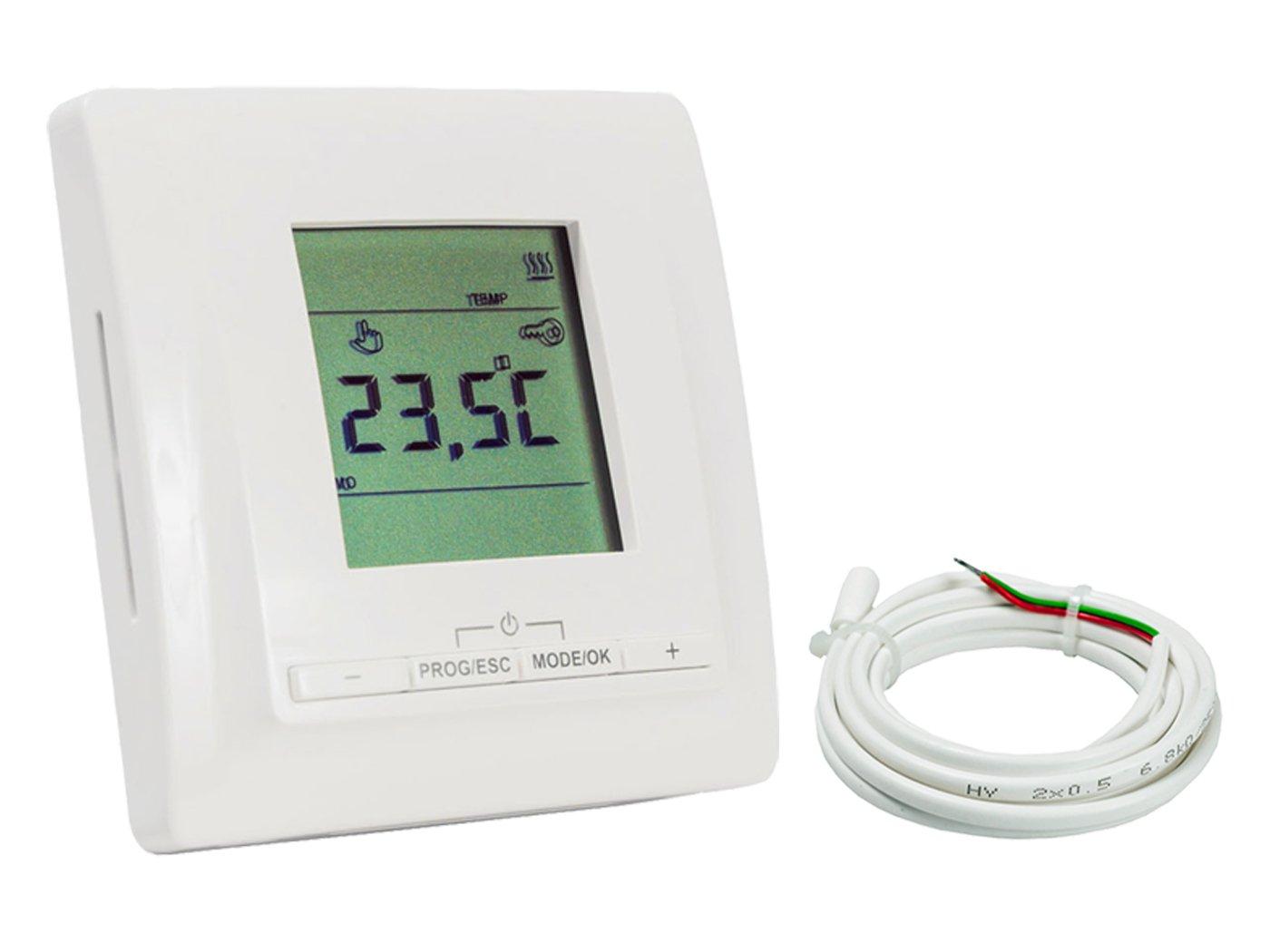 inkl Digital-Thermostat Warm-On AM902208 Heizmatten Komplett-Set 100 W//m/² 7.8 m/²