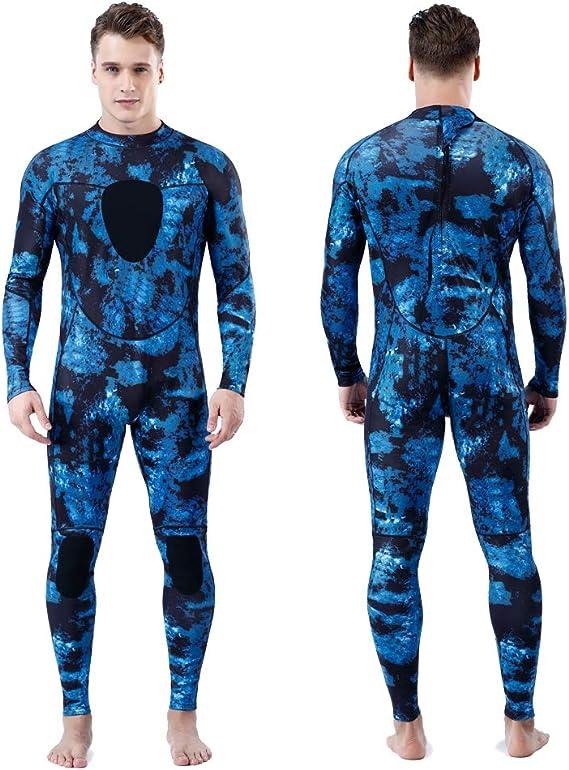 Nataly Osmann Men 5mm Spearfishing Premium Camouflage Neoprene Wetsuit Scuba Diving Suit Hoodie Snorkeling Suits