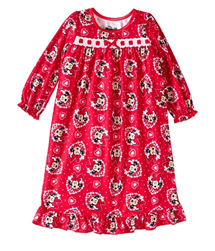 Mickey Minnie Mouse Toddler Flannel Granny Nightgown Pajama (4t) (Toddler Flannel Nightgown)