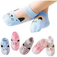 TUOLUO 5 Pares De Calcetines para Niños para Niños Niñas Primavera Verano Bebé Niño Niño Calcetines De Algodón Al por…