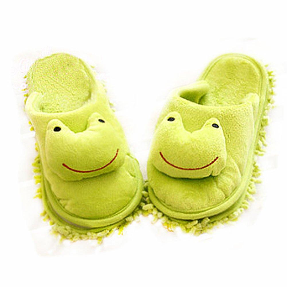 Lovely Animal Microfiber (Women) Magic Cleaning Slippers-Frog