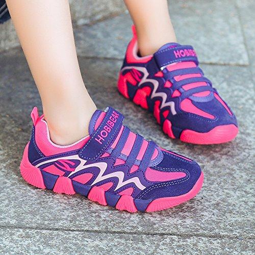 BODATU Boy's Girl's Sneakers Comfortable Running Shoes(Toddler/Little Kid/Big Kid) Fushia/Purple by BODATU (Image #6)