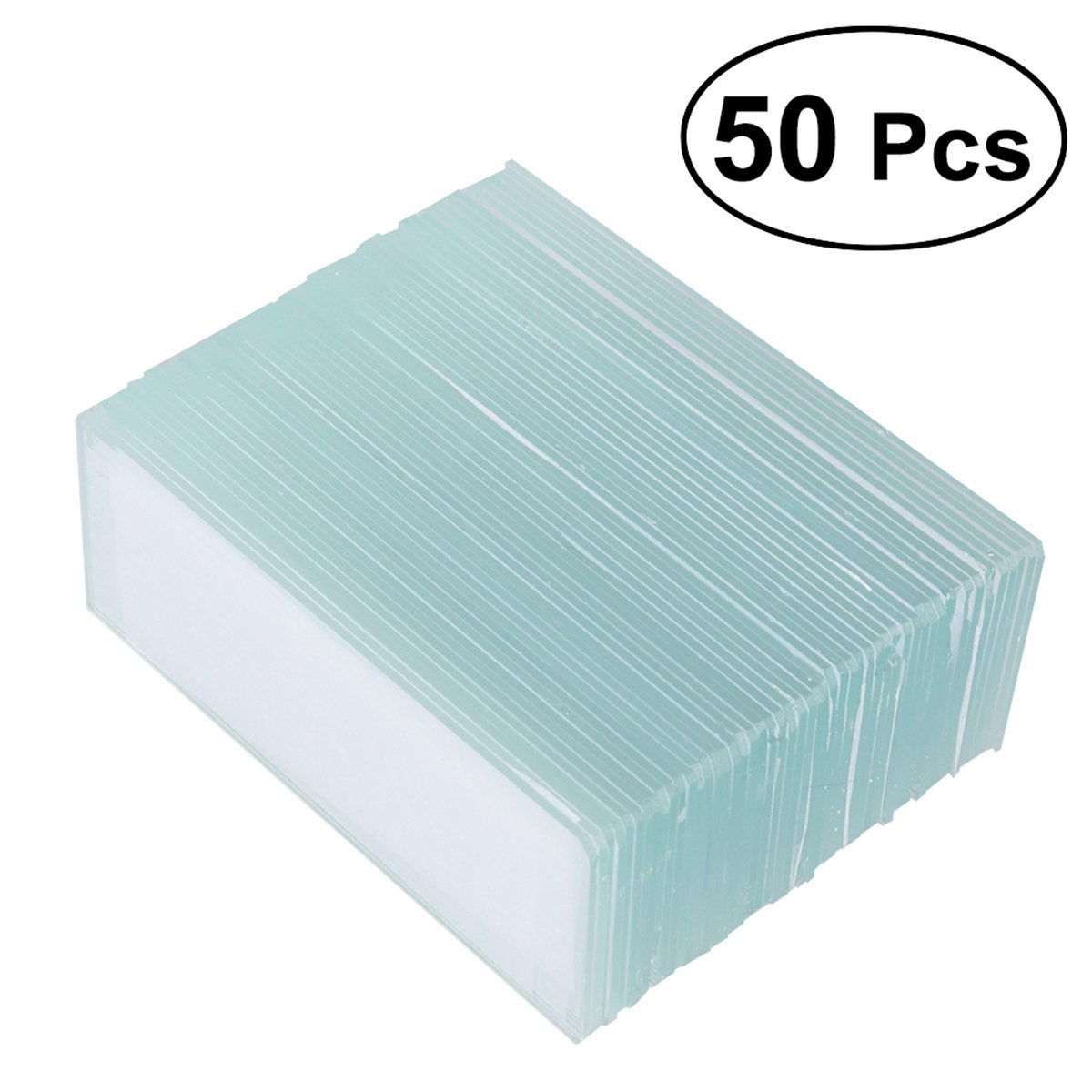 UKCOCO Microscope Blank Slides Square Cover Slips Cover Glass 50 Pieces Set