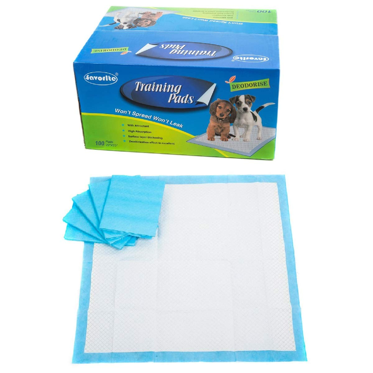 Favorite Floor Protection 22'' x 23'' Dog Puppy Housebreaking Training Pads