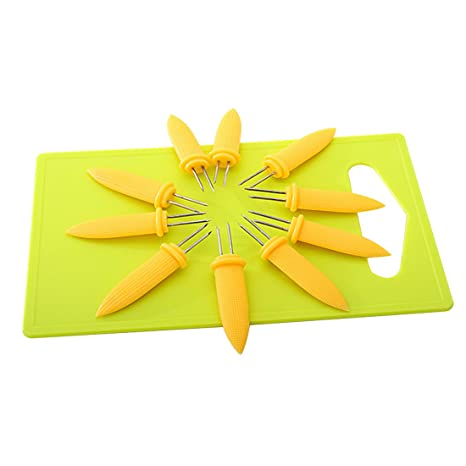 10pcs Mini doble Prong pinchos para barbacoa tenedor frutas maíz titular barbacoa tenedor