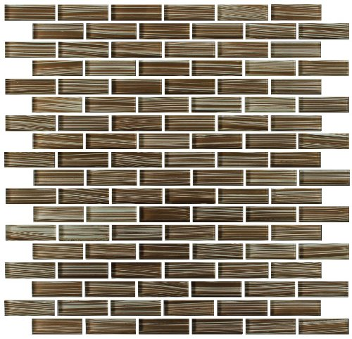 4x12 Light Brown Subway Glass Mosaic Tiles for Bathroom and Kitchen Walls Kitchen Backsplashes By Vogue Tile delicate