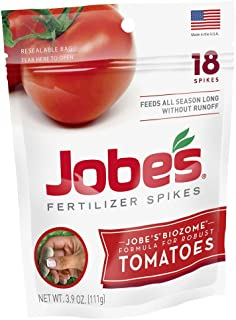 product image for Jobe's Tomato Fertilizer Spikes, 18 Spikes