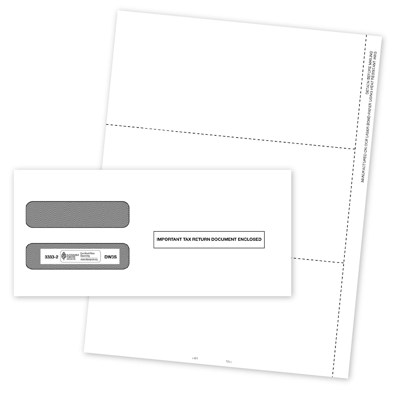 Blank 2019 W2 3-Up Tax Forms, 50 Employee Sets, Designed for QuickBooks and Accounting Software, Ideal for E-Filing, Works with Laser or Inkjet Printers, 50 Sheets and 50 Self Seal Envelopes by Blue Summit Supplies