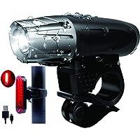 SGK Fietsverlichtingsset, voor en achter, oplaadbaar, krachtig, waterdicht en eenvoudig te installeren.