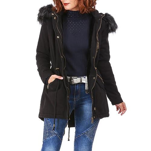 La Modeuse - Abrigo - para mujer negro Medium