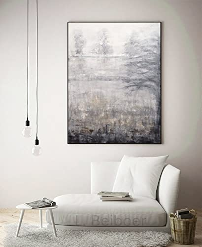 Amazon.com: Landscape abstract wall art trees 30 x 40 large gray ...