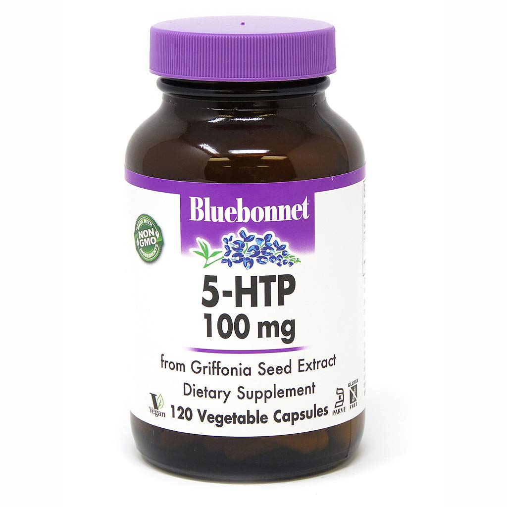 Bluebonnet Nutrition 5-htp 100 Mg Capsule, 120 Count
