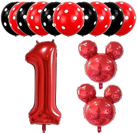 boogift 13 pcs Globos Mickey Mouse cumpleaños,10 pcs Globos ...