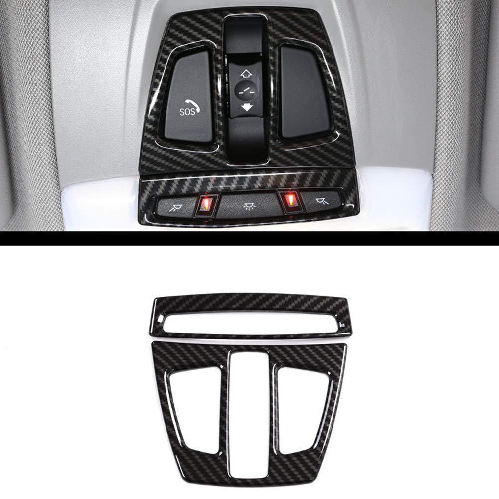 Car-styling ABS Chromé Décoration de l'intérieur Toit lampe de lecture Accessoires Cadre Coque Trim Stickers pour X1F4820162017, X5F152014–2017, X6F162015–2017,3Série G