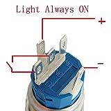ESUPPORT 12V Car Auto Blue LED Light Momentary