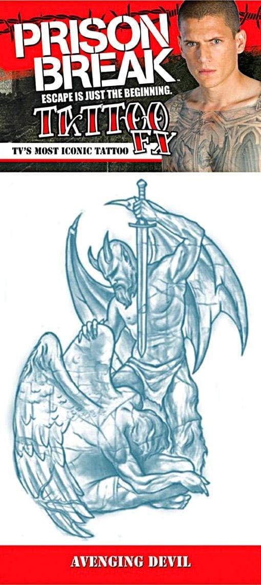 Prison Break venganza del tatuaje del diablo: Amazon.es: Juguetes ...