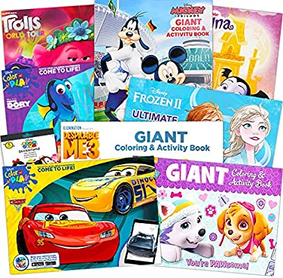 - Amazon.com: Disney Junior Gigantic Coloring Book Set For Girls Kids -- 4  Giant Coloring Books And Over 1000 Stickers (Featuring Sofia The First,  Minnie Mouse, Doc McStuffins, And Fairies): Toys & Games