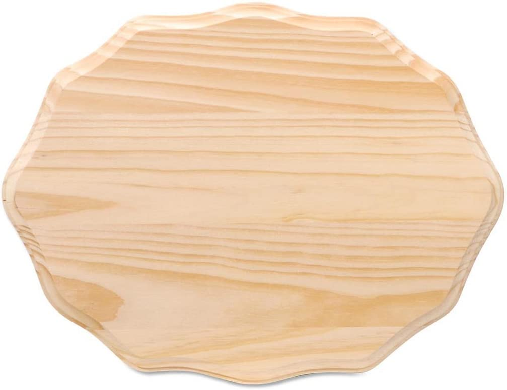 Darice Wooden Plaque Fancy Rectangle, Natural