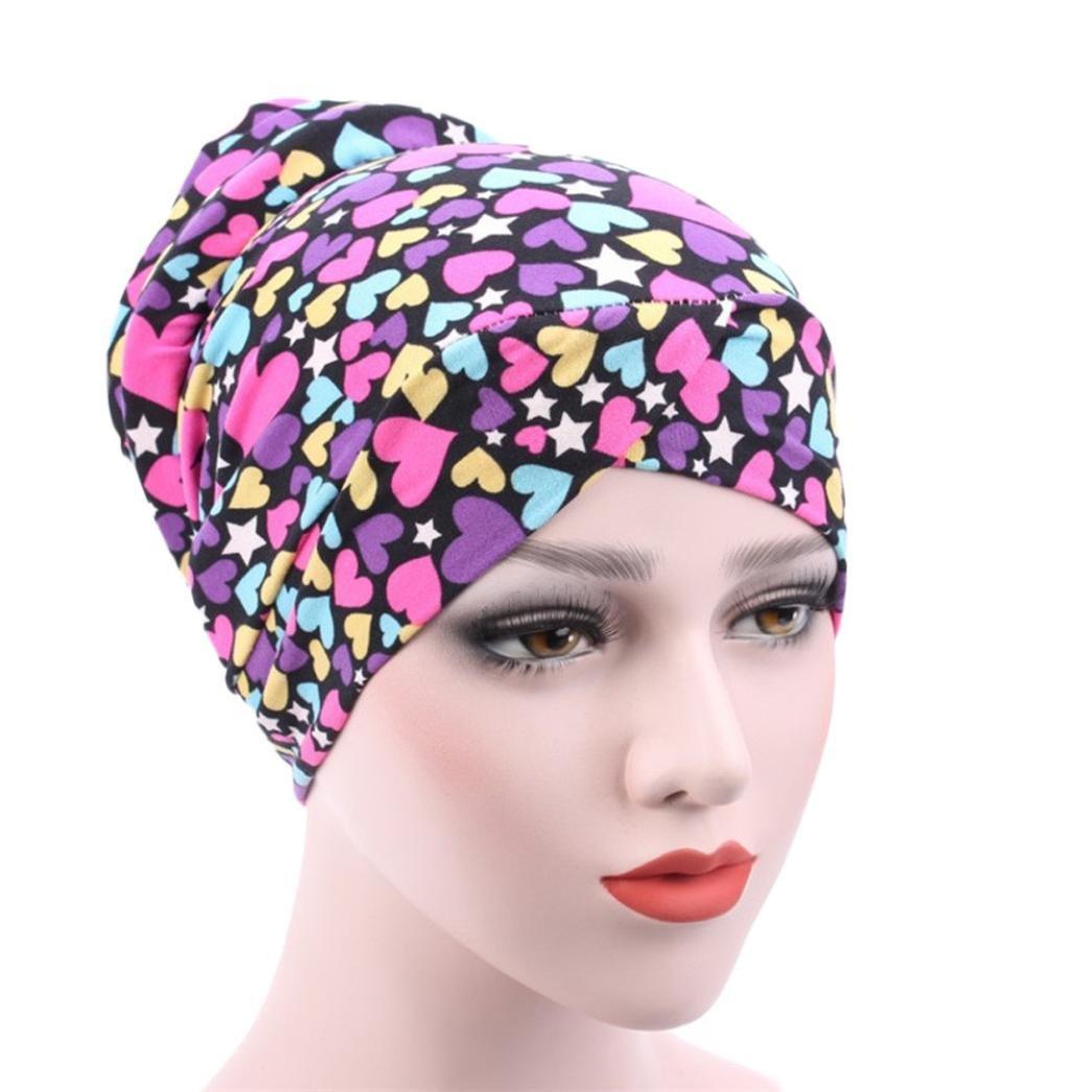 LCLrute Frauen Moslem Stretch Turban Hut Chemo Kappe Haarausfall Kopftuch Wrap Hijab Kappe
