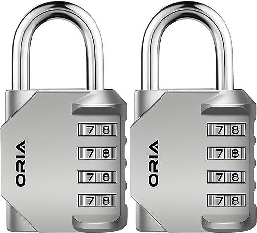 4 Digit Combination Padlock –Number Code Security Suitcase Lock– Gym Work Locker