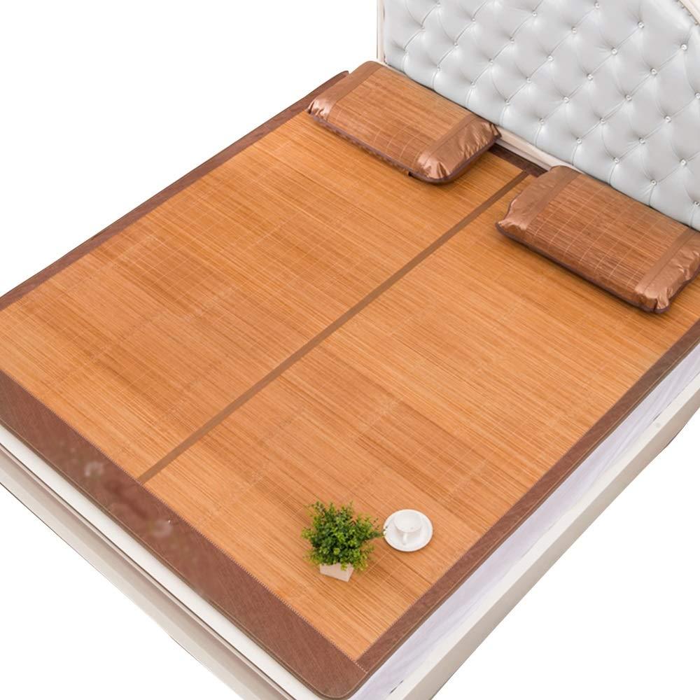 QL サマーマットレス 夏用スリーピングマット - 夏用マットと枕カバー、両面スリーピングマット、クールベッド、夏用寝具、折りたたみ式収納 竹製マットレス (Size : 1.8x2 meters) B07SPWQXDM  1.8x2 meters