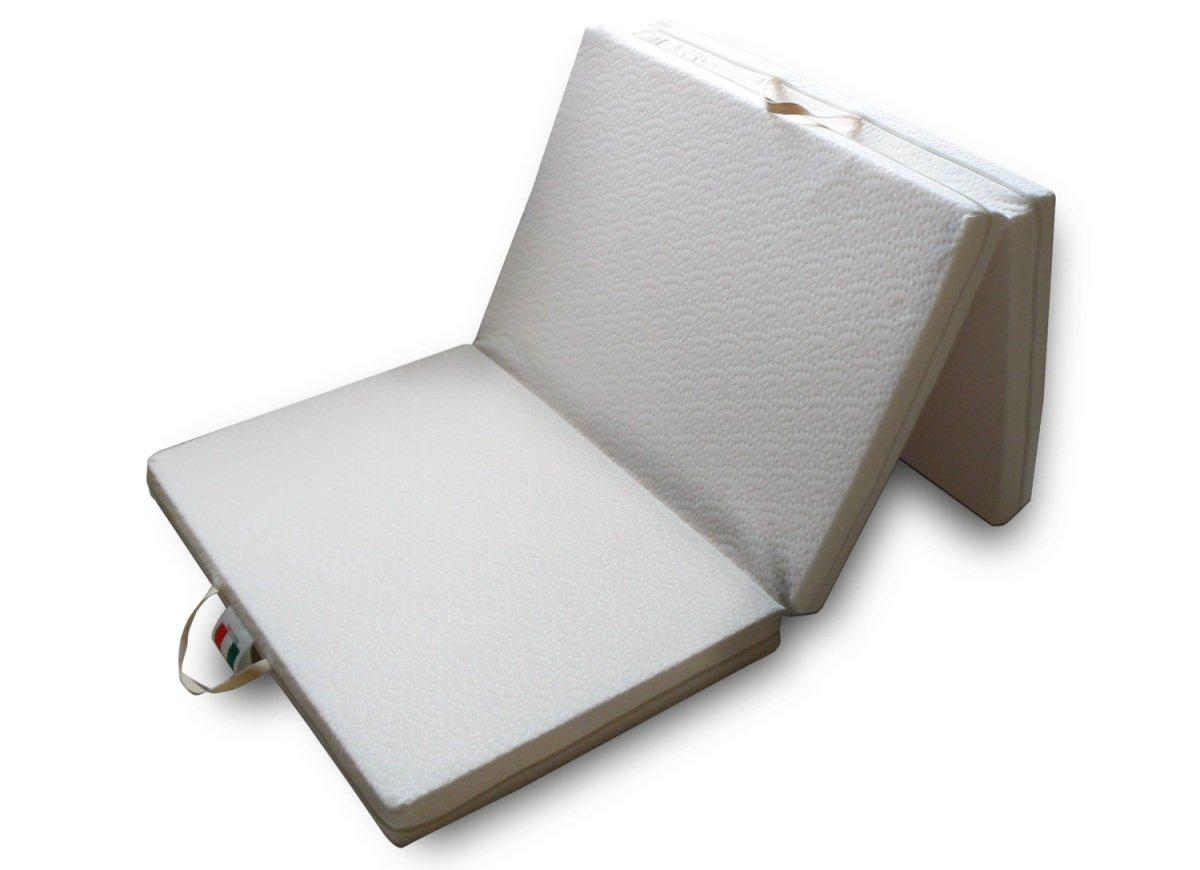 Petit Matelas Futon Pliable et Sauve-Espace Lit Simple 90x200 cm à 2 Rigidités 2 cm en Latex