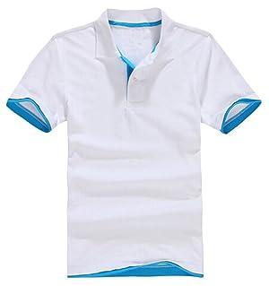 Vska Men's Short-sleeved T-shirt Slim Lapel POLO 13 XXL
