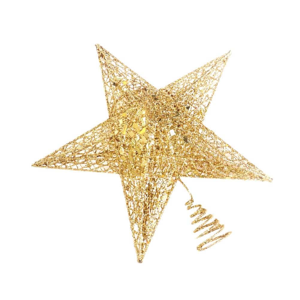 BESTOYARD Estrella de /Árbol de Navidad de Cinco Puntas para /Árbol de Navidad Decoraci/ón /Árbol de Navidad 12 cm Dorados
