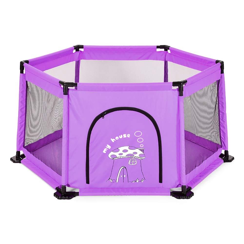 ボールを持つ庭の赤ちゃんの遊び場ポータブルな子供のアクティビティセンター屋内の安全柵男の子と女の子のためのベストギフト (色 : Purple)  Purple B07KT3BL75