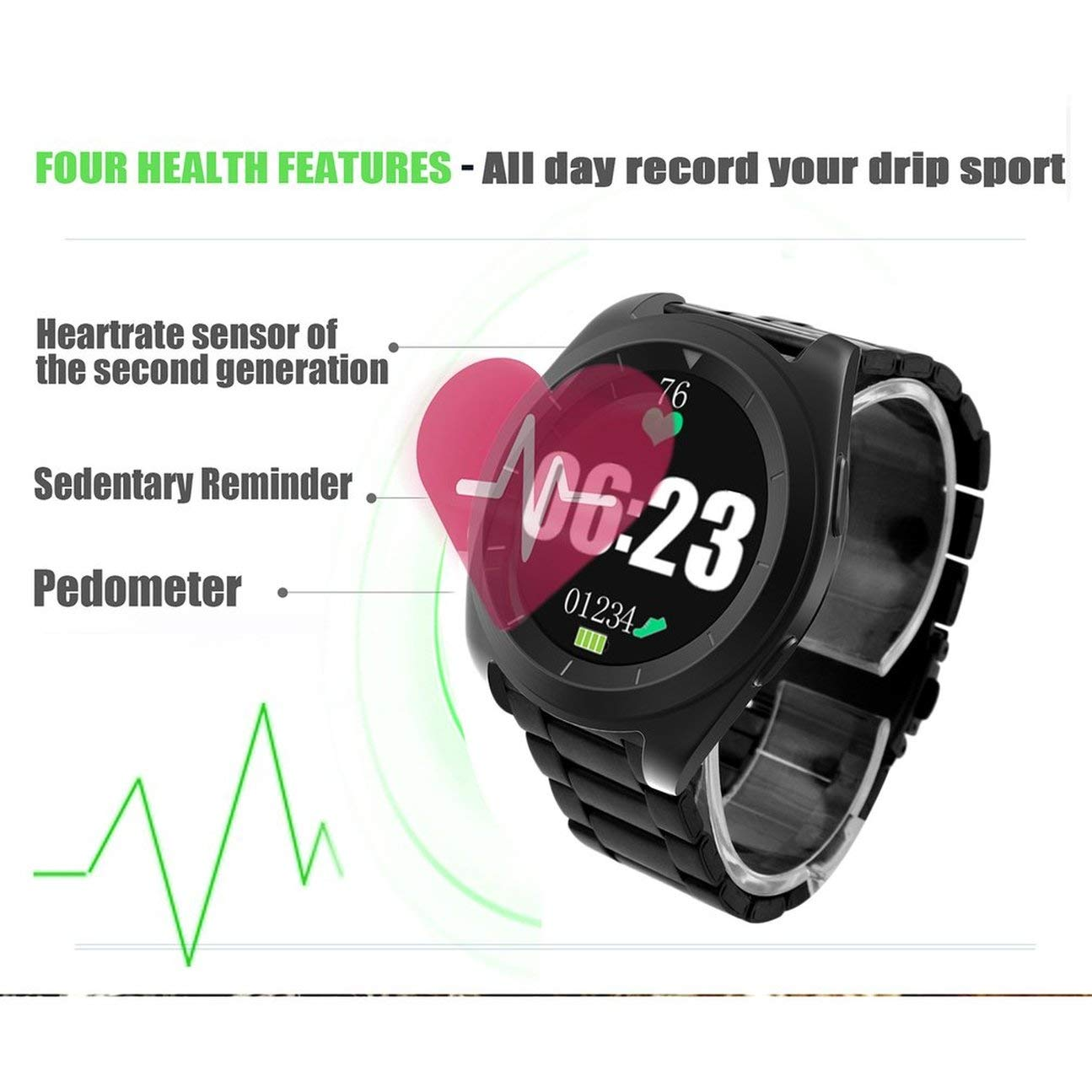 NO.1 G6 Smart Watch Steel Strap MTK2502 Sport Watch ...