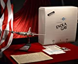 ENOLA GAY bomber model made from REAL PIECE of WWII B-29 Signed by Pilot General Paul Tibbets, Danbury Mint Model, COA, AP wire, Newspaper
