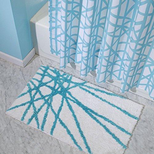 Interdesign Microfiber Bathroom Shower Accent Rug: InterDesign Abstract Microfiber Bath Mat, Shower Rug For