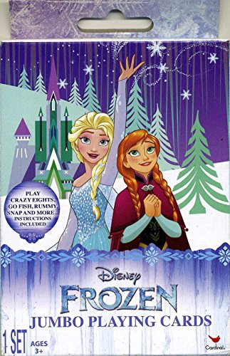Disney's Frozen Jumbo Playing Cards - Play Go Fish, Crazy 8s, Rummy & More