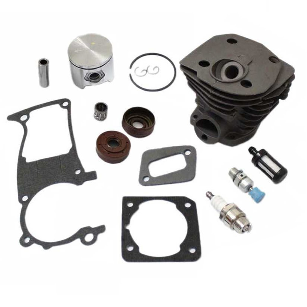 HURI Cylinder with Piston Kits Gasket Oil Seal Spark Plug for Husqvarna 346XP 350 351 353 Chainsaw 44mm by HURI