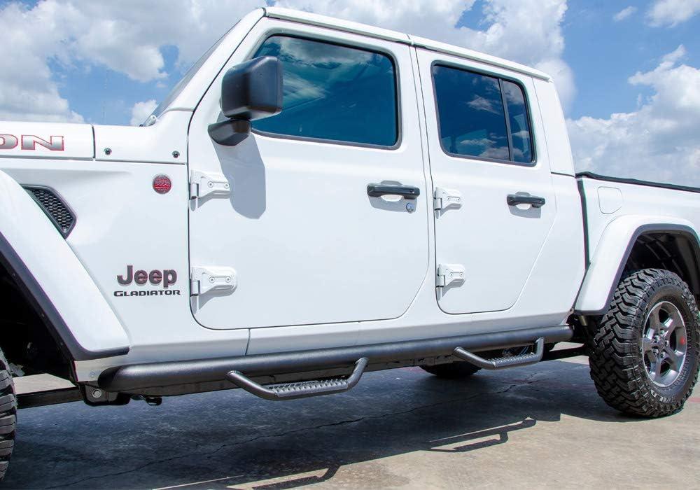 JT N-FAB Nerf Steps fits 2019 Jeep Gladiator J1980T Full Length 4 Door Textured Black