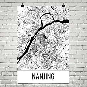 Amazoncom Nanjing Map Nanjing Art Nanjing Print Nanjing China
