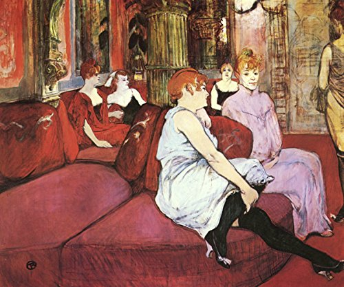 Henri Toulouse Lautrec - in The Room - Small - Semi Gloss - Unframed Vintage Wall Art Poster Picture Giclee Artwork Modern Contemporary & Fine Art Print ()