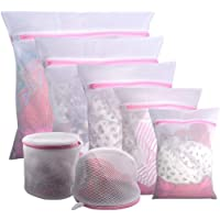 YOMYM 7Pcs Mesh Laundry Bags for Delicates with Premium Zipper, Travel Storage Organize Bag, Clothing Washing Bags for…