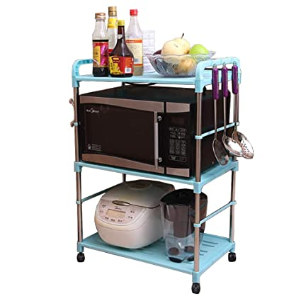 98bc6319eeef Amazon.com - 3 -Tier PP Rolling Cart Easy Moving, Kitchen Storage ...