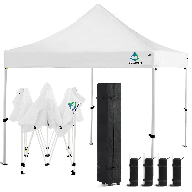 Amazon com : Sunnotic 10'x10' Ez Pop Up Canopy Tent Portable