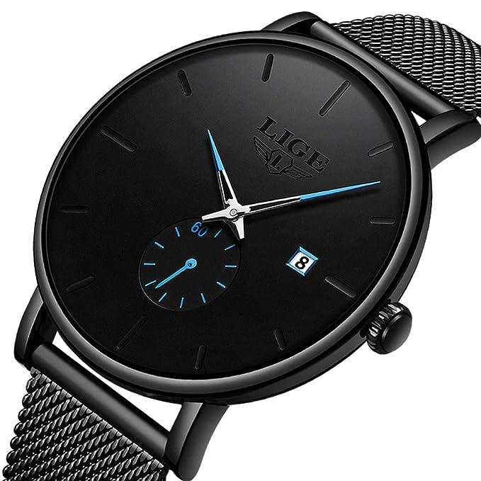 Amazon.com: Reloj para hombre con cronógrafo resistente al ...