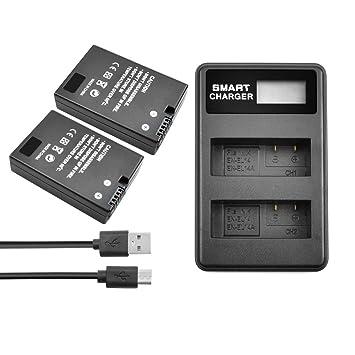 Cargador D3300 liste! para EN-EL14a // Nikon DF D5300 // Coolpix P7800 v Micro-USB