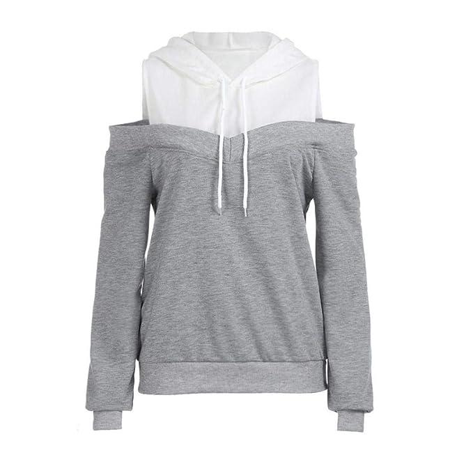 online store 311d2 66fd8 KIMODO Pullover Damen Herbst Winter Schulterfrei Langarm ...
