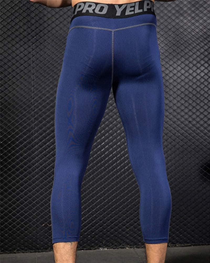 ZhuiKunA Mens Compression Tights Training Thermal Base Layer Fitness Gym Workout Leggings