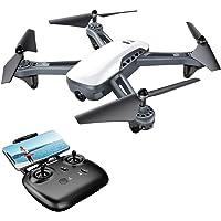 Drone GPS Potensic FPV avec Moteur traditionnel Version améliorée 1080P Caméra Grand Angle Réglable , fonction de RTH et l'altitude de suspension, fonction de Positionnement GPS/ Mode Suivez-moi (D50)