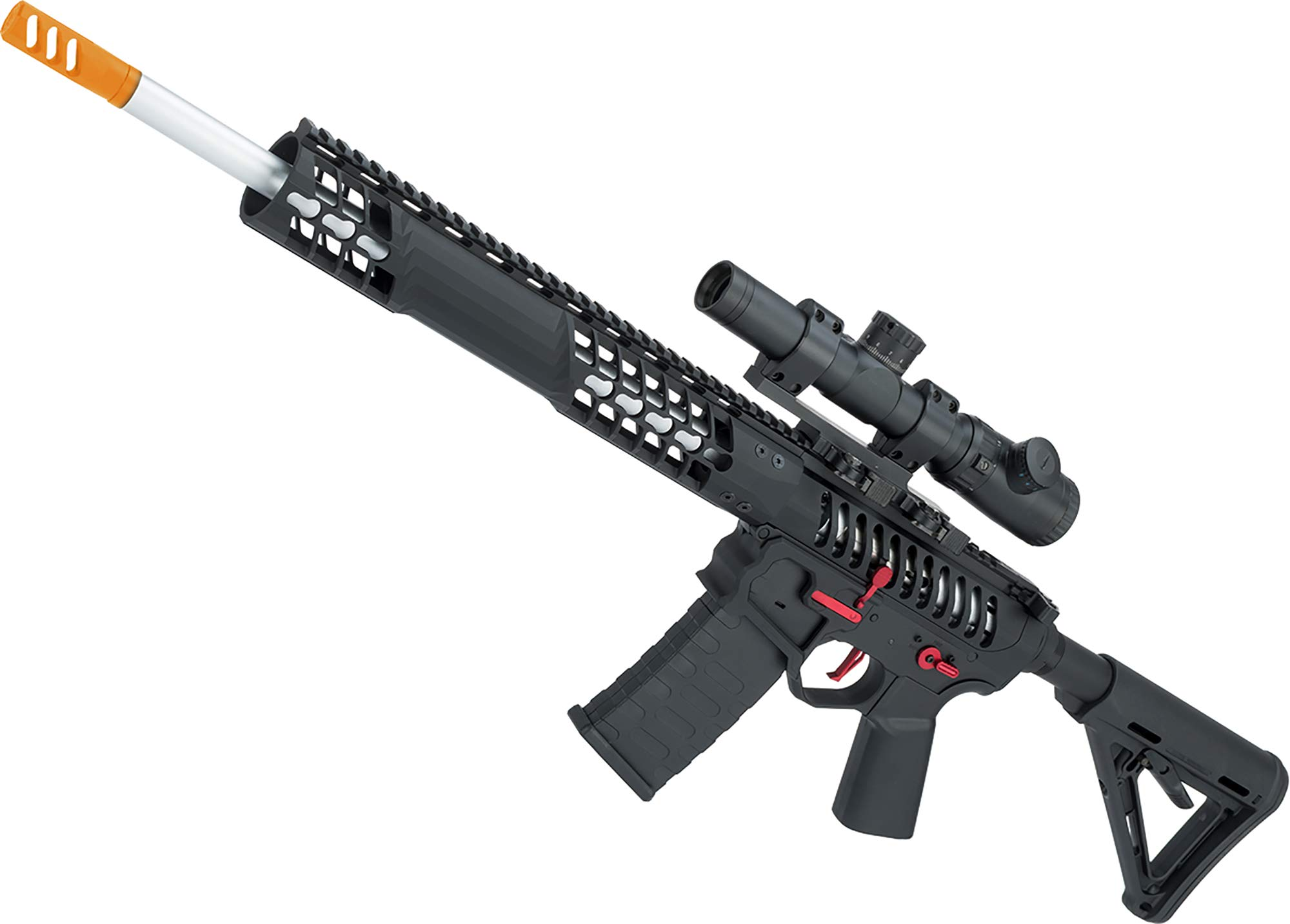 Evike EMG F1 Firearms BDR-15 3G AR15 Full Metal Airsoft AEG Rifle (Color: Black/Red Selector/Magpul MOE Stock) by Evike
