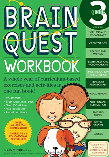 Brain Quest Workbook: Grade 3 (Brain Quest - Times Map Shops Square