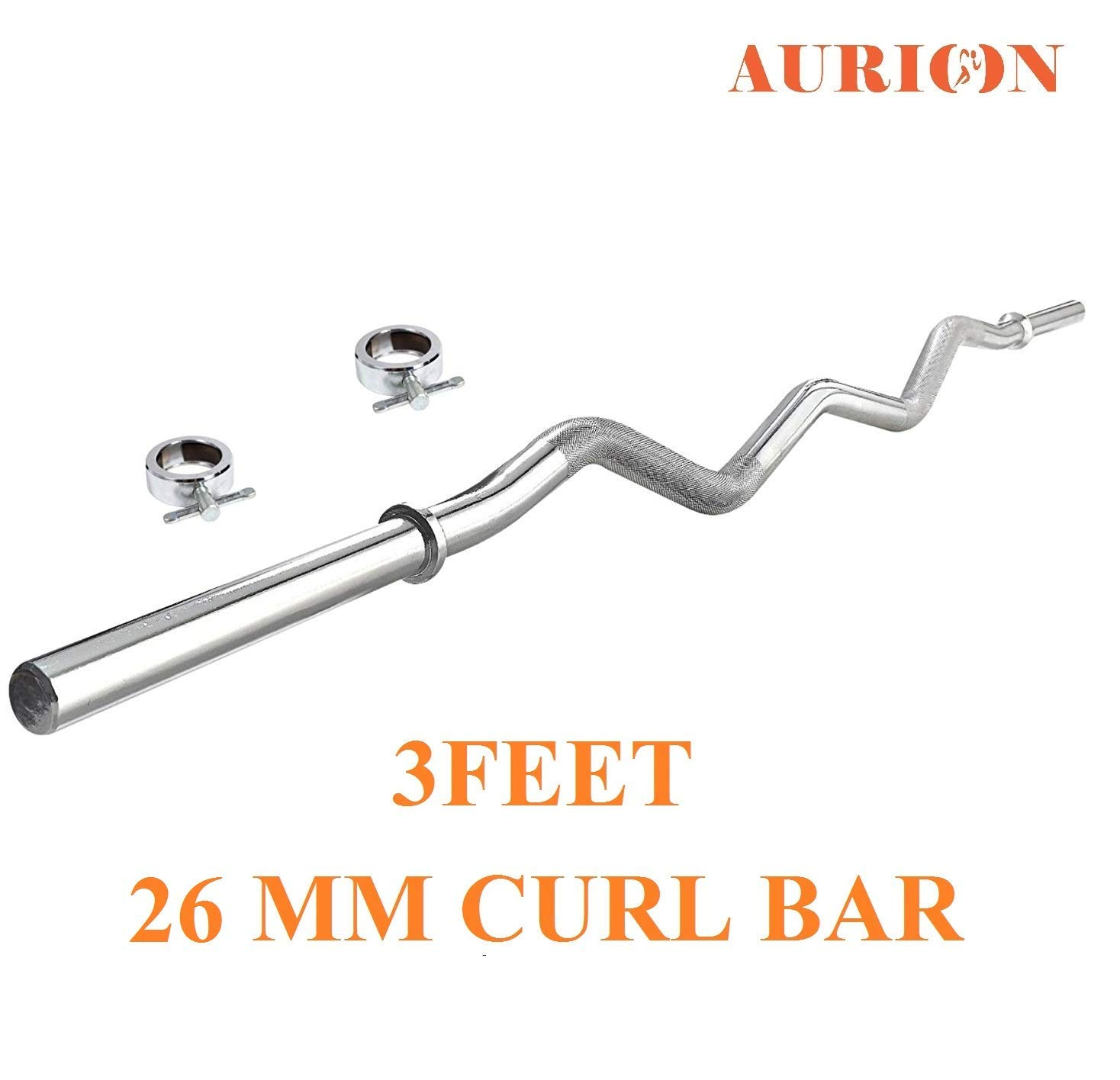 Aurion Solid Chrome 26 mm Thickness Barbell Bar